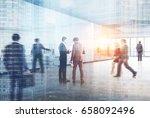 people in a modern office...   Shutterstock . vector #658092496
