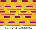 colorful retro minimal... | Shutterstock .eps vector #658093306