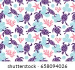 vector seamless pattern with... | Shutterstock .eps vector #658094026