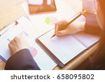 elegant young business woman... | Shutterstock . vector #658095802