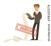 businessman stressed out by... | Shutterstock .eps vector #658102576