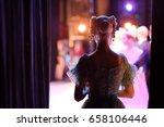 a ballerina awaiting the moment ... | Shutterstock . vector #658106446