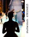 Silhouette Of A Ballerina...