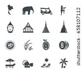 thailand icons. vector... | Shutterstock .eps vector #658107112