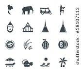 thailand icons. vector... | Shutterstock .eps vector #658107112