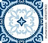 beautiful ornamental tile... | Shutterstock .eps vector #658107832