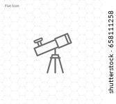 telescope icon | Shutterstock .eps vector #658111258