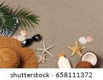beach vacation background | Shutterstock . vector #658111372
