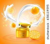 luxury cosmetic bottle package... | Shutterstock .eps vector #658119595