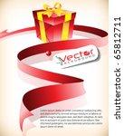 christmas gift and ribbon... | Shutterstock .eps vector #65812711