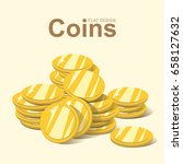 golden coin stack  gold money... | Shutterstock .eps vector #658127632