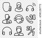 operator icons set. set of 9... | Shutterstock .eps vector #658128772
