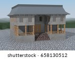Two Storey Building With Loggi...