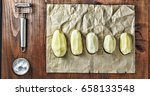 peeled potatoes. potatoes  set... | Shutterstock . vector #658133548