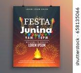 festa junina flyer design for... | Shutterstock .eps vector #658135066