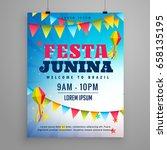 festa junina celebration poster ... | Shutterstock .eps vector #658135195