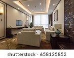 modern interior.3d design... | Shutterstock . vector #658135852