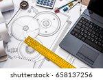Mechanical Engineering Parts Tools Laptop - Fine Art prints
