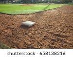 a youth baseball field infield... | Shutterstock . vector #658138216