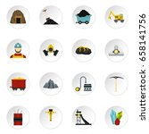 miner set icons in flat style... | Shutterstock .eps vector #658141756