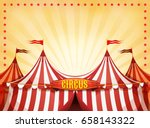big top circus background with... | Shutterstock .eps vector #658143322