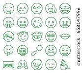 smile icons set. set of 25... | Shutterstock .eps vector #658147996