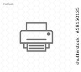 printer icon  vector... | Shutterstock .eps vector #658150135