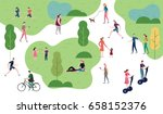 People in the park. People character vector illustration flat design | Shutterstock vector #658152376