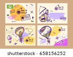 freehand drawn vector... | Shutterstock .eps vector #658156252