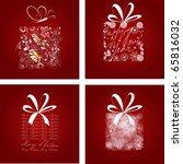 set of christmas card | Shutterstock .eps vector #65816032