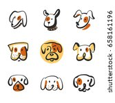 freehand drawing image face dog ...   Shutterstock .eps vector #658161196