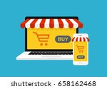 the concept of online shopping. ... | Shutterstock .eps vector #658162468