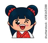 Kawaii Japanese Girl Icon