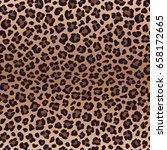 dark brown irregular leopard... | Shutterstock .eps vector #658172665
