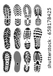 footprint sport shoes big... | Shutterstock .eps vector #658178425