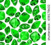set of green emerald gems... | Shutterstock . vector #658178632