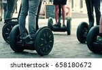 guided segway tour in a tourist ... | Shutterstock . vector #658180672