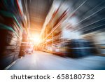 warehouse industrial and... | Shutterstock . vector #658180732