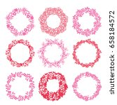 a vector illustration of 9...   Shutterstock .eps vector #658184572