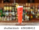 alcoholic cocktail on the basis ... | Shutterstock . vector #658188412