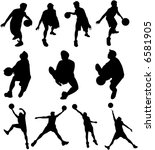 a vector of a silhouette... | Shutterstock .eps vector #6581905