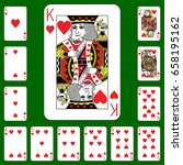 playing cards suit cross on a... | Shutterstock .eps vector #658195162