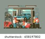 garage auto service | Shutterstock .eps vector #658197802