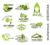 go green and ecology icons set. ... | Shutterstock .eps vector #658200166