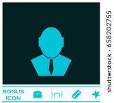businessman icon flat. blue...