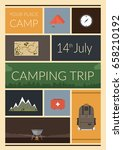 summer camp poster. vector... | Shutterstock .eps vector #658210192