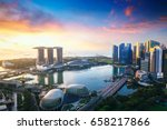 aerial view of singapore... | Shutterstock . vector #658217866