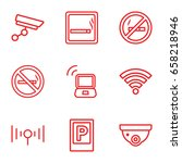zone icons set. set of 9 zone... | Shutterstock .eps vector #658218946