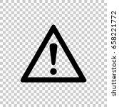 hazard warning attention sign... | Shutterstock .eps vector #658221772