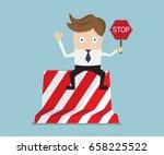 businessman sitting on road... | Shutterstock .eps vector #658225522